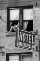 Girl in Window, Hotel Bakersfield, 1979